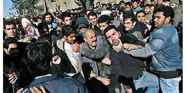 Abbruch der Trauerfeier für Montazeri
