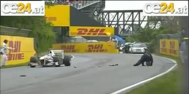 F1 Streckenposten mit Glück überlebt