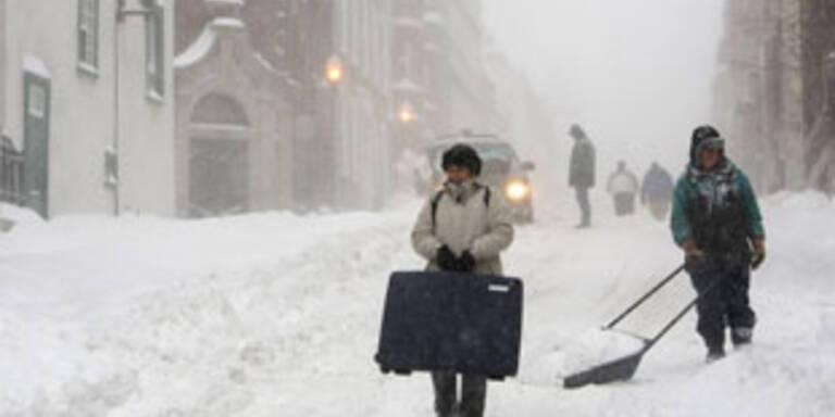 Massive Schäden bei Schneestürmen in Nordamerika