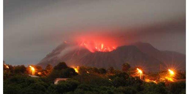 Auf Montserrat droht Vulkanausbruch