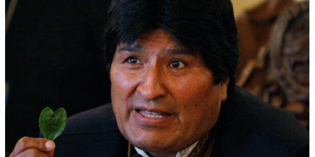Morales' flammende Rede für Koka-Blatt