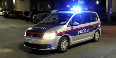 Polizeiwagen bei einem Einsatz