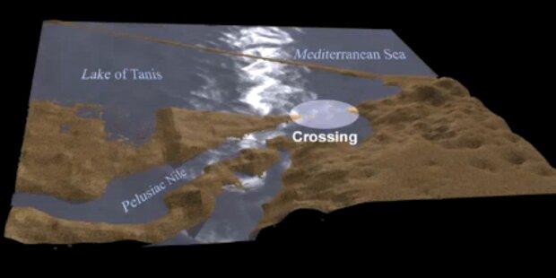 Wind teilte das Rote Meer für Moses