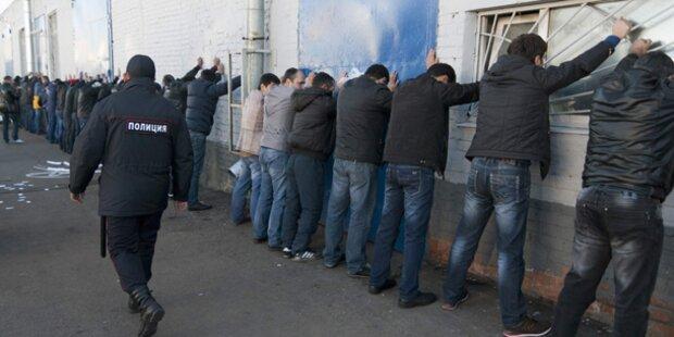 Moskau: Polizei geht gegen Gastarbeiter vor
