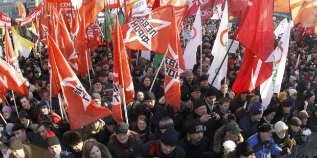 Russische Opposition fordert Neuwahlen