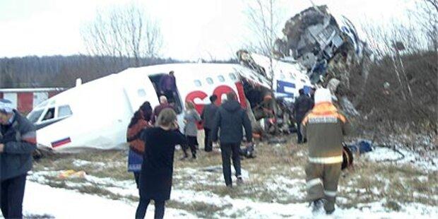 Moskau: Tote und Verletzte bei Notlandung
