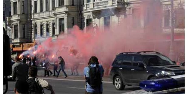 20 Festnahmen bei Anti-Putin-Demo