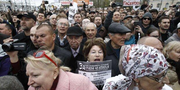 Massive Proteste gegen Putin