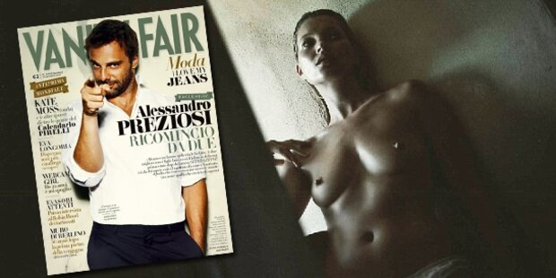 Kate Moss als stilvolles Nackedei