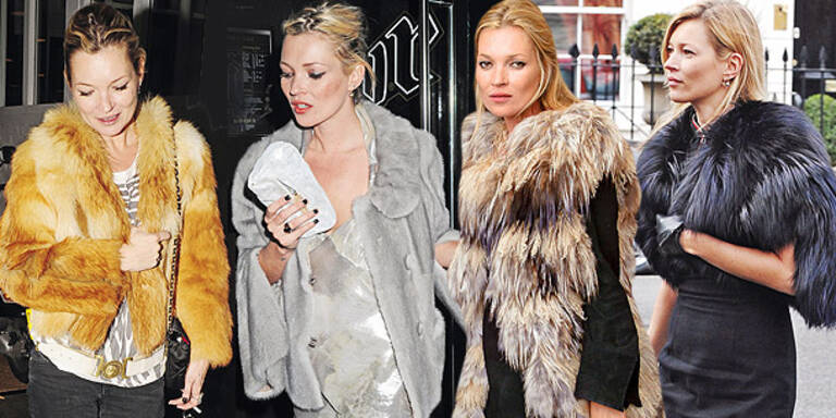 My Fur Lady: Kate Moss trägt Pelz