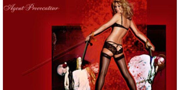 Kate Moss wirbt für Agent Provocateur