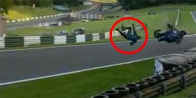 Superbike-Fahrer überlebt Sturz mit 177 km/h