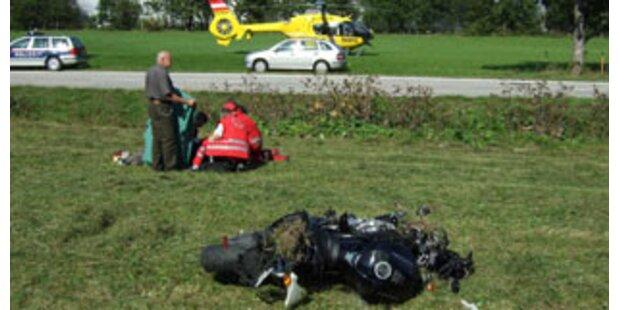 Neun Biker-Unfälle am Wochenende