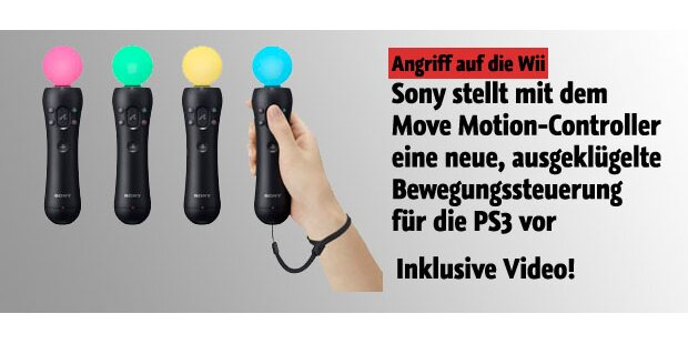 Sony stellt Move-Controller für PS3 vor