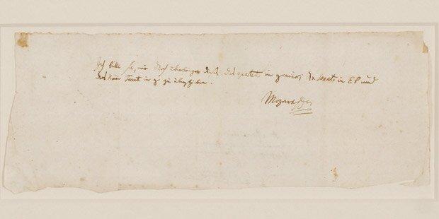 Mozart-Brief für 200.000 Euro versteigert