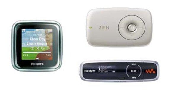 Fünf günstige MP3-Player im Überblick