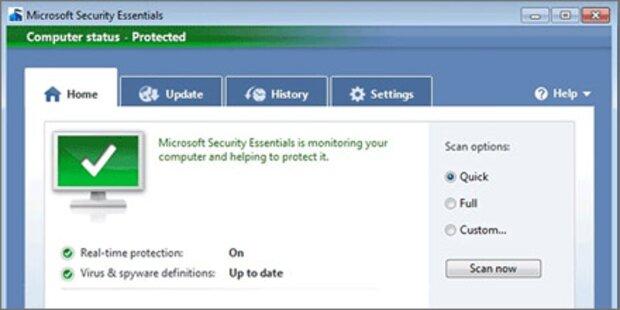 Neue kostenlose Antiviren-Software von Microsoft