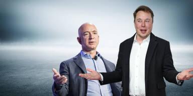 Elon Musk mit Seitenhieb gegen Jeff Bezos
