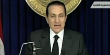 Mubarak enttäuscht sein Volk