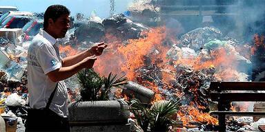 Müllberge in Neapel