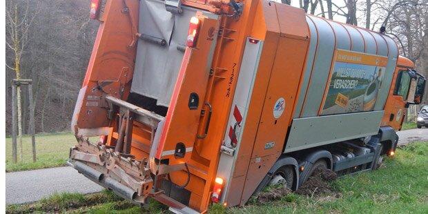 Schwerer Unfall mit Müllwagen