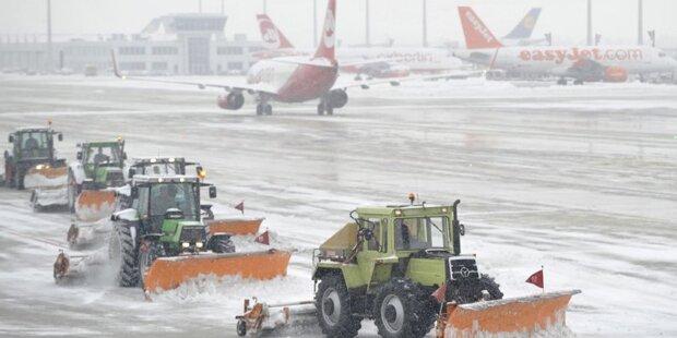 Schnee in München: Wien-Flug gestrichen