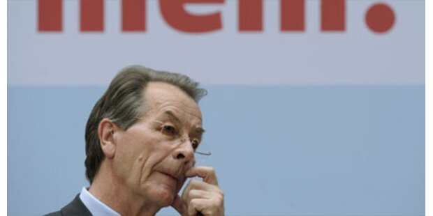 SPD-Chef Müntefering tritt ab