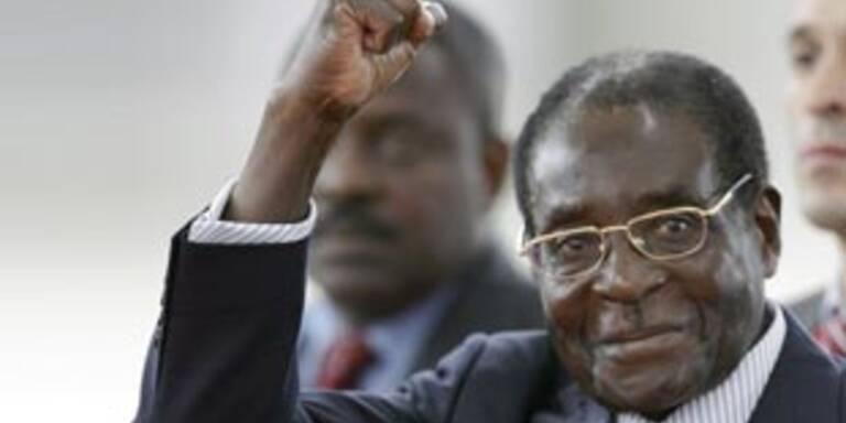 Immer noch da: Robert Mugabe