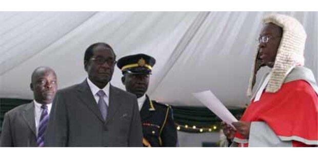 Mugabe offiziell zum Wahlsieger erklärt