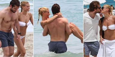 Im gemeinsamen Florida-Urlaub können Michelle und Tomaso nicht die Hände von einander lassen - sie schenkt ihm Küsse, er trägt sie auf Händen...schmacht!