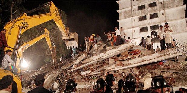 Haus stürzt ein: Mindestens 38 Tote