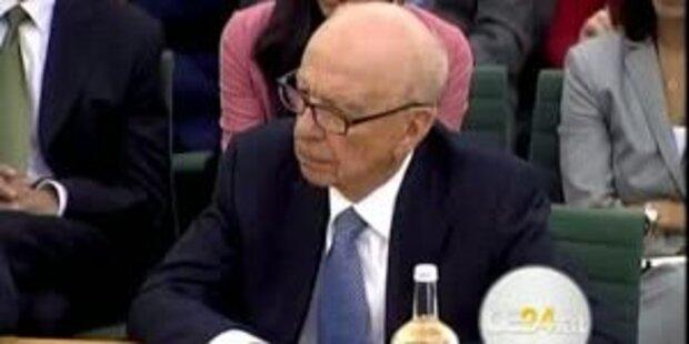 Rupert Murdoch und Sohn sagen aus