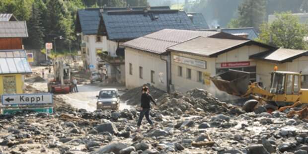 Paznaun: Aufräumarbeiten nach Murenabgang