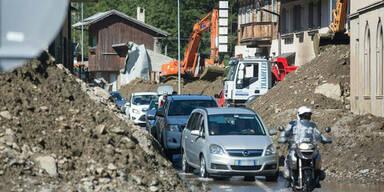 Mure verschüttet Drautal-Straße