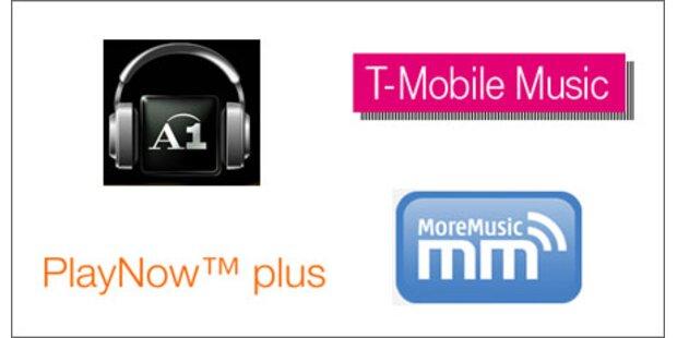 Musik-Downloads der Mobilfunkanbieter