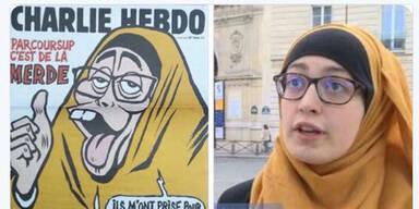 Aufregung: Charlie Hebdo zeigt Muslimin als Affen