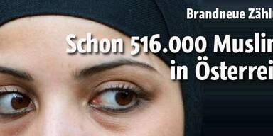 Halbe Million Muslime in Österreich