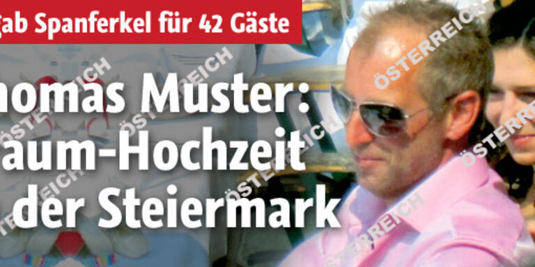 Thomas Musters intime Hochzeit
