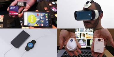 Die irrsten Gadgets der Handy-Messe