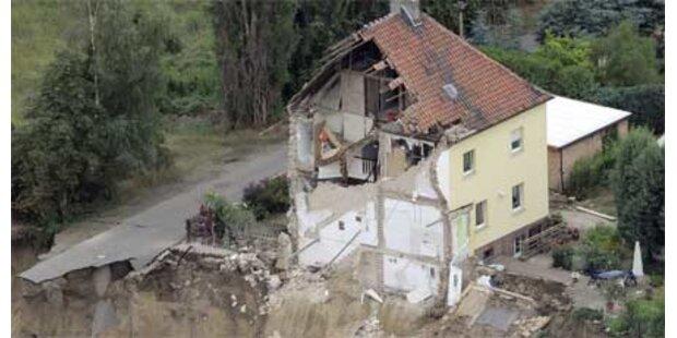Häuser im Erdboden versunken