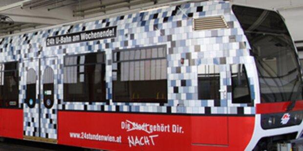 100.000  Wiener stürmen Nacht-U-Bahn