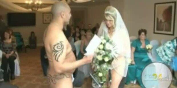 Nackt-Hochzeit aus Kostengründen