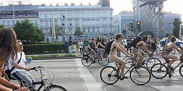 Nackte Radler erobern Wien