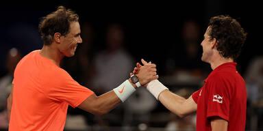 Nadal gewinnt Exhibition-Match gegen Thiem