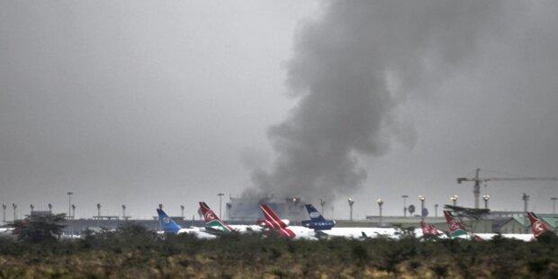 Schwerer Brand am Flughafen Nairobi