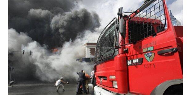 Großbrand wütet in der Innenstadt von Nairobi