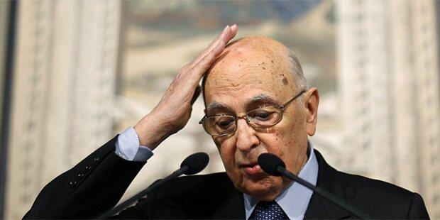 Italien: Auch Präsident Napolitano scheitert