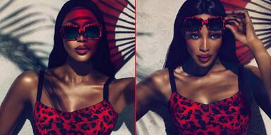 Naomi Campbell für D&G 'Animalier Eyewear'