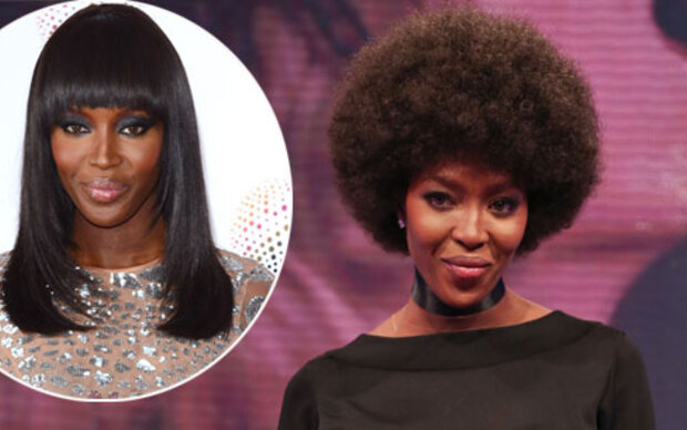 Naomi Campbell trägt jetzt Afro