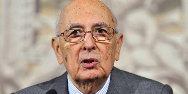 Präsident Napolitano zurückgetreten
